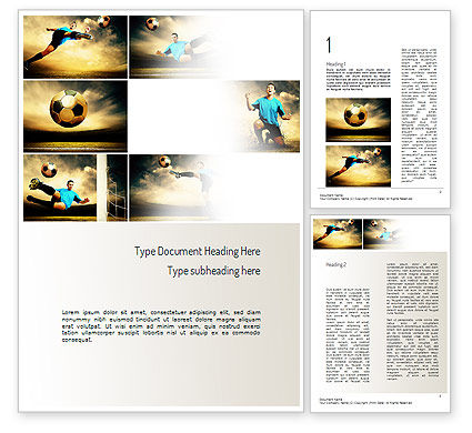 Soccer Collage Word Template, 11221, Sports — PoweredTemplate.com