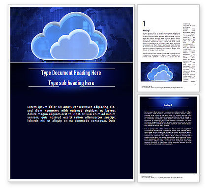 Cloud Technology Services Word Template, 11223, Technology, Science & Computers — PoweredTemplate.com