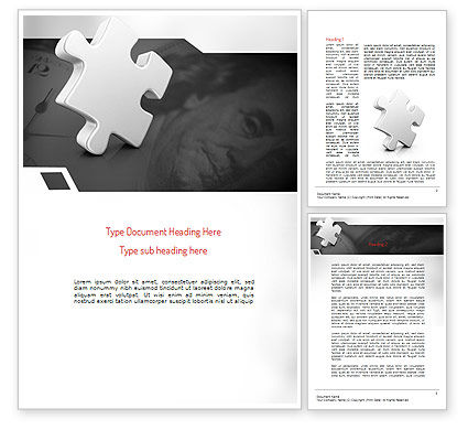 Business Effectiveness Puzzle Word Template, 11225, Business Concepts — PoweredTemplate.com