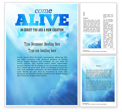 Come Alive Word Template, 11233, Religious/Spiritual — PoweredTemplate.com