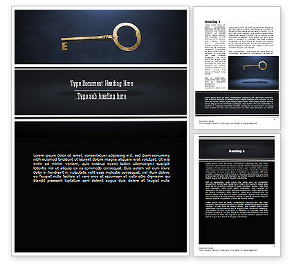 Key to All Doors Word Template, 11235, Business Concepts — PoweredTemplate.com
