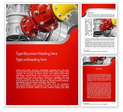 Industrial Pipe Junction Word Template, 11236, Utilities/Industrial — PoweredTemplate.com