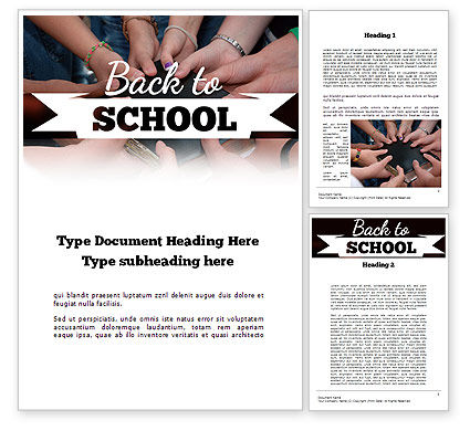 Back to School Concept Word Template, 11238, Education & Training — PoweredTemplate.com