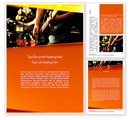 Art & Entertainment: Live Band Word Template #11240