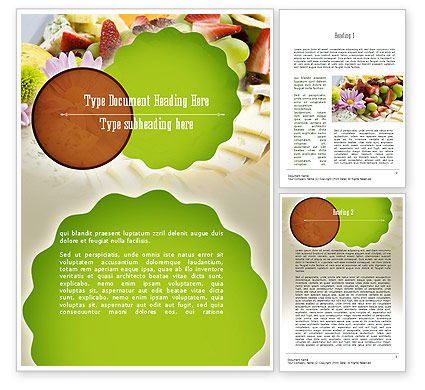 Baby Shower Food Word Template, 11241, Food & Beverage — PoweredTemplate.com