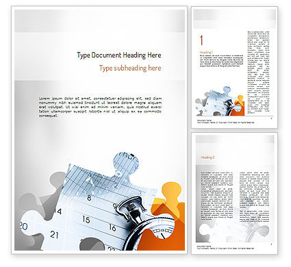 Timing is Everything Word Template, 11242, Business Concepts — PoweredTemplate.com