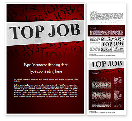 Top Job Word Template, 11243, Careers/Industry — PoweredTemplate.com