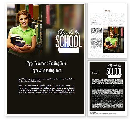 Successful Student Word Template, 11244, Education & Training — PoweredTemplate.com