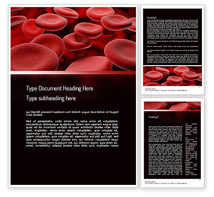 Medical: Rbc细胞Word模板 #11247