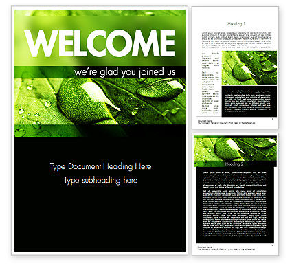 Green Organization Word Template, 11248, Nature & Environment — PoweredTemplate.com