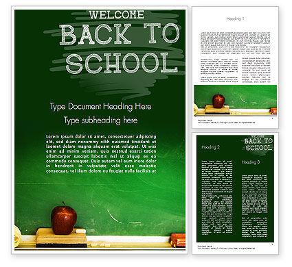 School Chalkboard Word Template, 11250, Education & Training — PoweredTemplate.com