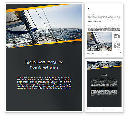 The Bow of a Boat Word Template, 11254, Careers/Industry — PoweredTemplate.com