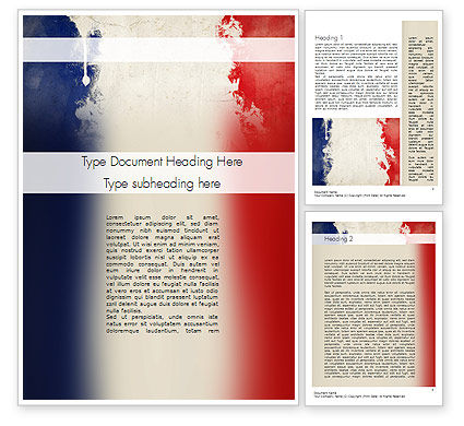 Flags/International: France Presentation Word Template #11256