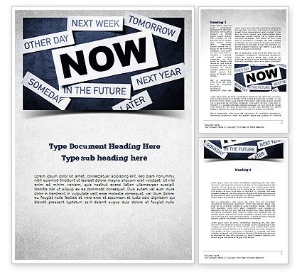 Stop Procrastinating Word Template, 11257, Business Concepts — PoweredTemplate.com
