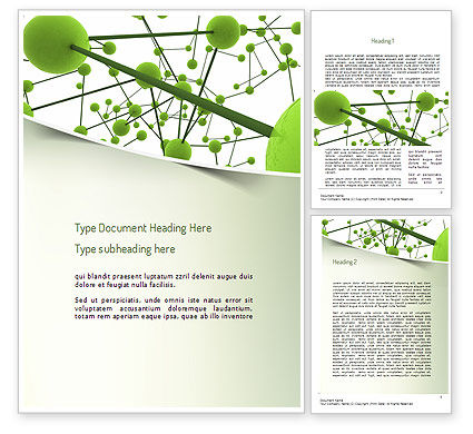 Technology, Science & Computers: Green Network Word Template #11258