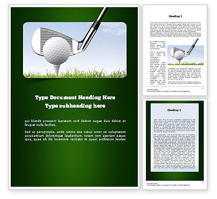 Golf Tournament Word Template 11259 | Poweredtemplate.Com