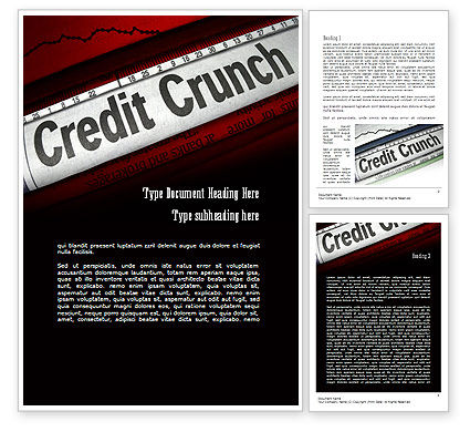 Credit Crunch Headline Word Template, 11263, Financial/Accounting — PoweredTemplate.com