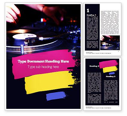 Art & Entertainment: DJ Equipment Word Template #11267