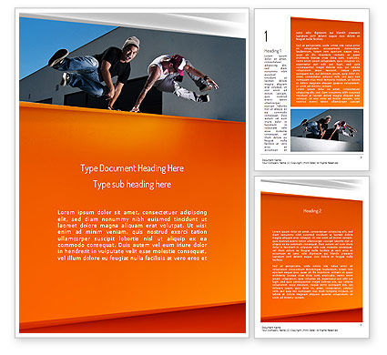 Sports: Parkour Word Template #11268