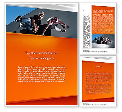 Parkour Word Template, 11268, Sports — PoweredTemplate.com