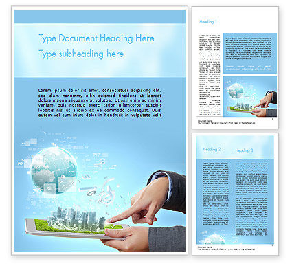 Smart City Word Template 11269 Poweredtemplate Com