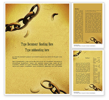 He Will Break Every Chain Word Template, 11270, Religious/Spiritual — PoweredTemplate.com