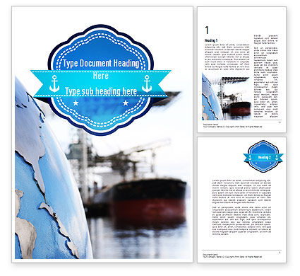 Shipping Company Word Template, 11280, Cars/Transportation — PoweredTemplate.com