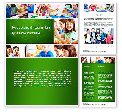 Education & Training: School Lessons Word Template #11286