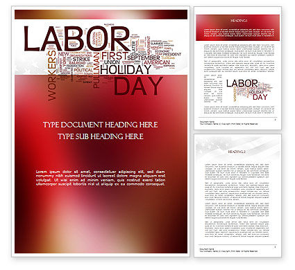 Labor Day Word Cloud Word Template, 11292, Holiday/Special Occasion — PoweredTemplate.com
