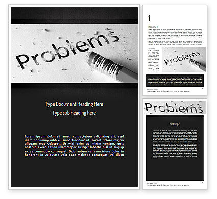 Consulting: Erasing Problems Word Template #11307