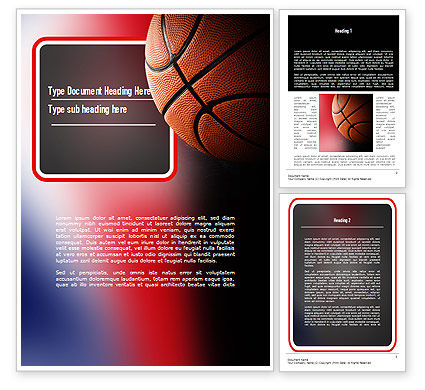 Sports: NBA Championship Word Template #11310