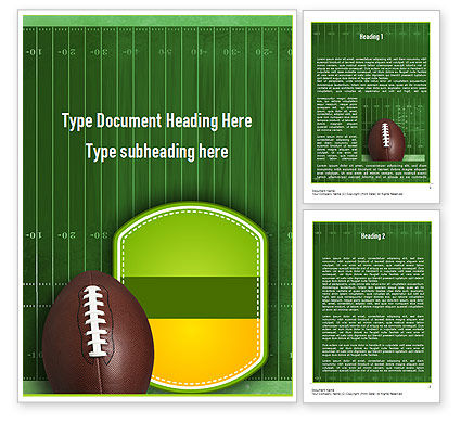 NFL Super Bowl Word Template, 11313, Sports — PoweredTemplate.com