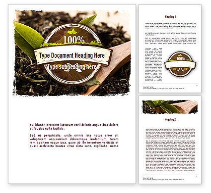 Flavored Tea Word Template, 11314, Food & Beverage — PoweredTemplate.com