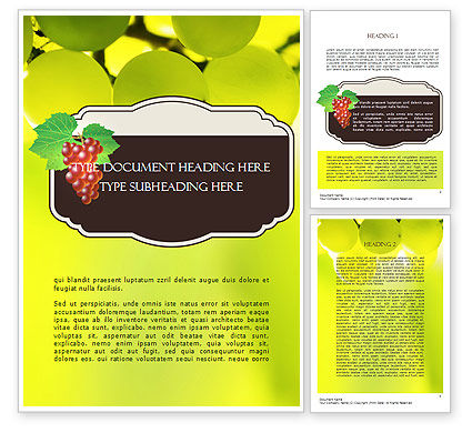 Wine Label Word Template, 11316, Food & Beverage — PoweredTemplate.com