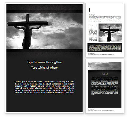 Religious/Spiritual: Jesus Cross Word Template #11321
