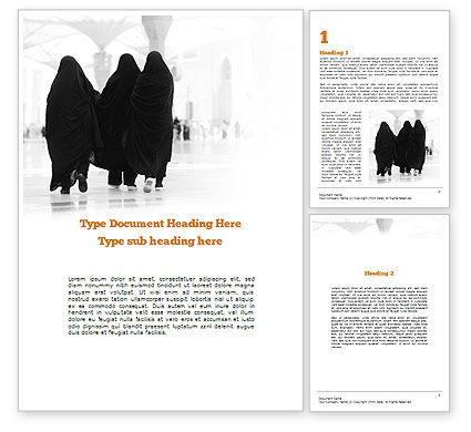 Makkah Kaaba Hajj Muslims Word Template
