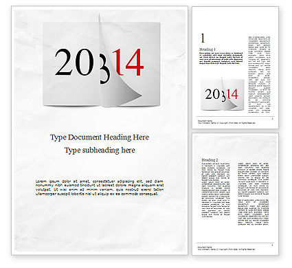Holiday/Special Occasion: Tear-off Year Change Calendar Word Template #11331