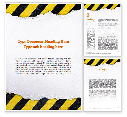 Construction: Under Construction Themed Word Template #11336