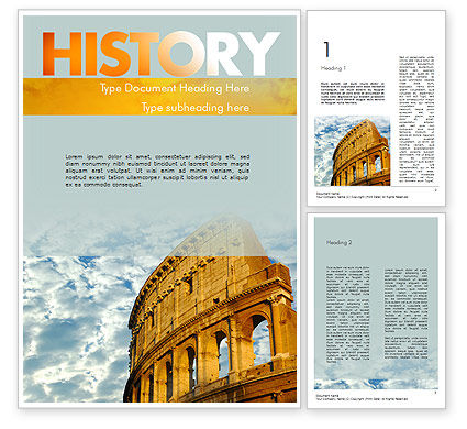 The Colosseum Word Template