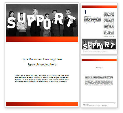 Support Groups Word Template