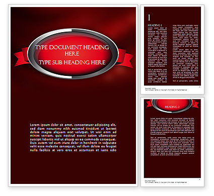Abstract/Textures: Chrome Frame with Ribbon Word Template #11347