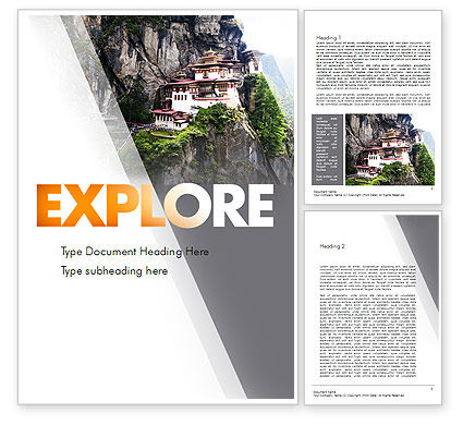 The Tiger's Nest Word Template, 11349, Flags/International — PoweredTemplate.com