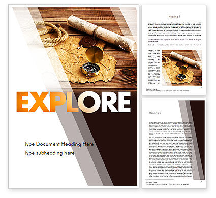 Explorer Theme Word Template#1
