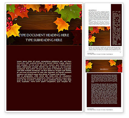 Fall Theme Word Template, 11360, Nature & Environment — PoweredTemplate.com