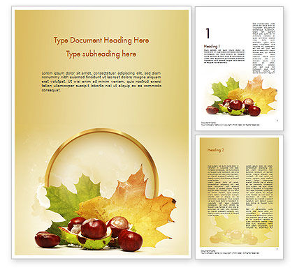 Chestnuts Word Template, 11361, Nature & Environment — PoweredTemplate.com
