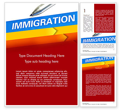 Consulting: Immigration Word Template #11363