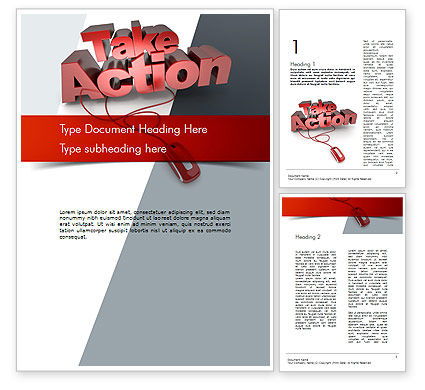 Take Action Word Template, 11366, Careers/Industry — PoweredTemplate.com