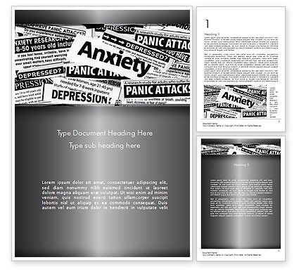 Mental Health Word Template, 11367, Medical — PoweredTemplate.com