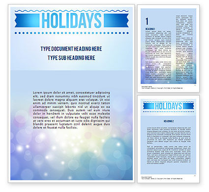 Holiday/Special Occasion: Holidays Abstract Theme Word Template #11370