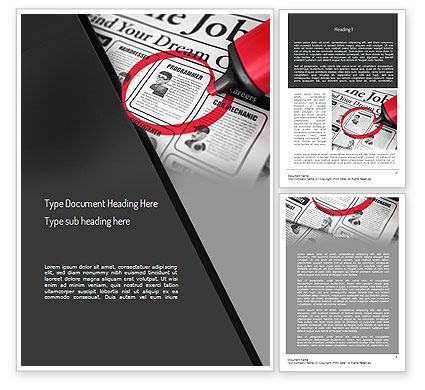 Job Searching Word Template, 11375, Careers/Industry — PoweredTemplate.com
